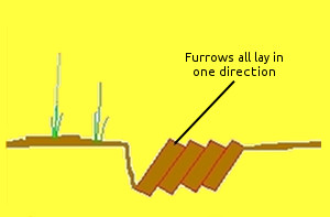 Furrows in one direction