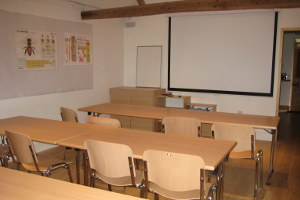 Meeting room with white board and projector